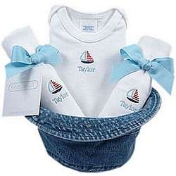 Baby Boy Gift Set in a Bucket Hat