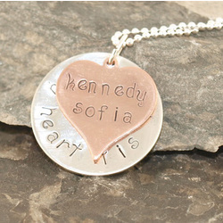 My Heart is Full Personalized Hand Stamped Necklace