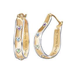 A Mother's Joy Personalized Birthstone Earrings