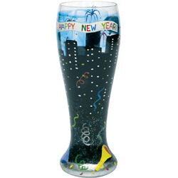 New Year's Pilsner Glass