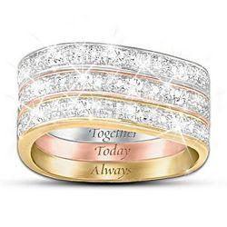 Timeless Love Three Band Diamond Ring