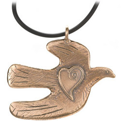 Peace Dove Buddha Necklace