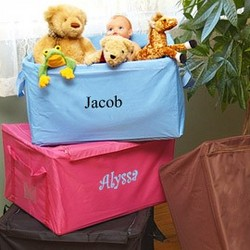 Personalized Canvas Child Storage Box