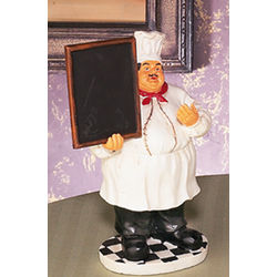 "11"" Fat Chef Waiter with Menu Board"