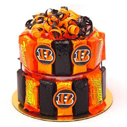 Cincinnati Bengals Candy Bar Cake