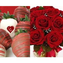 2 Days of Loving with Chocolate Covered Strawberries & Red Roses