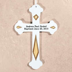 Engraved Baptism Wall Cross