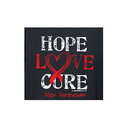 Hope Love Cure AIDS Awareness Long Sleeve Shirt