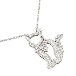 Classy Kitty Diamond Pendant
