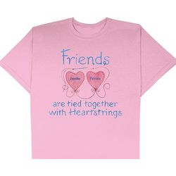 Personalized Friends Pink Heartstrings T-Shirt