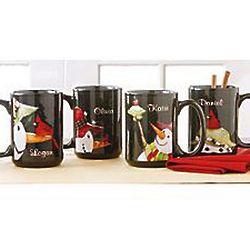 Personalized Friendly Snowman Mug Set