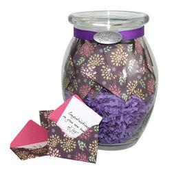 Purple Elegance Jar of Messages for New Moms