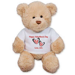 Personalized Couple's Hearts Teddy Bear