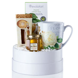 Tea Rose Gift Basket