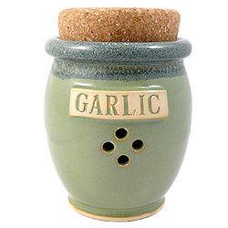 Cork-Top Handmade Garlic Pot