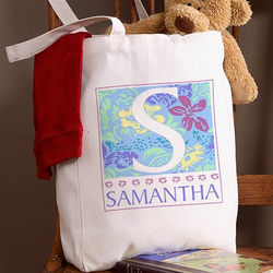 Girl's Personalized On the Go Canvas Tote