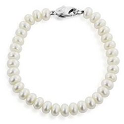 Honora Rondelle Freshwater Cultured Pearl Bracelet in Silver