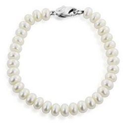 Honora Rondelle Freshwater Cultured Pearl Bracelet in Silver