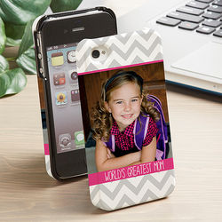 One Photo Chevron iPhone Hardcover Cell Phone Case