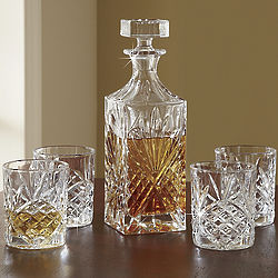Lead Crystal Whiskey Set