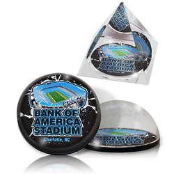 Carolina Panthers Stadium Crystal Pyramid and Magnet Set
