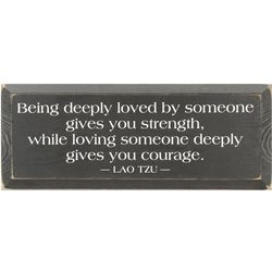 Being Deeply Loved Wooden Wall Plaque