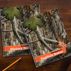 Tree Camo Personalized Large Notebooks