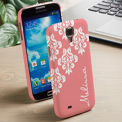 Personalized Damask Samsung Galaxy S4 Cell Phone Case
