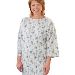 Ladies Open Back Flannelette Snap Nightgown