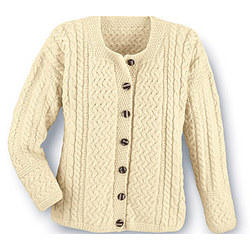 Aran Attraction Cardigan in Bainin Wool
