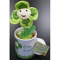 Good Luck Plush Potted Plant and Mug Set