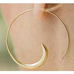 Tibetan Gypsy Vermeil Spiral Hoops