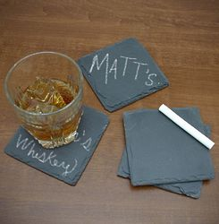 Chalk it Up Chalkboard Slate Coasters