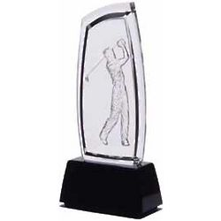 Acrylic Male Golfer Sculpture