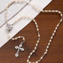 Girl's Prayer of Love Pearl Rosary