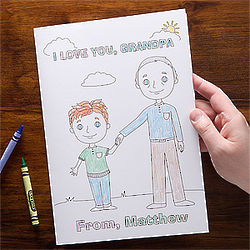 Personalized Grandpa and Me Oversized Greeting Card