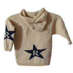 Baby's Hooded Star Sweater with Initial