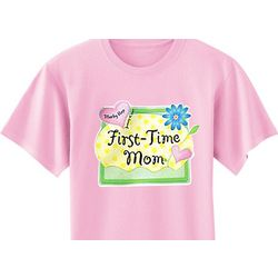 Personalized First Time Pink T-Shirt