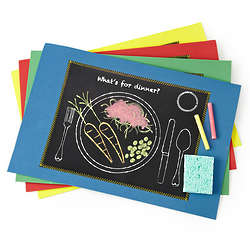Kid's Chalkboard Placemats