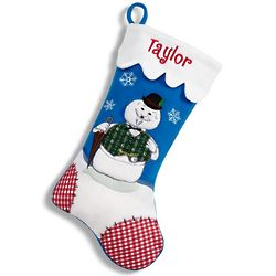 Personalized Sam the Snowman Christmas Stocking