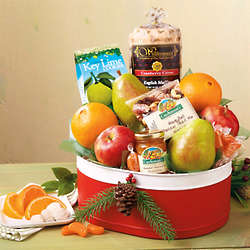 Holiday Fruit and Treat Gift Tin