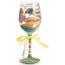 Hostess with the Mostest Personalized Wine Glass