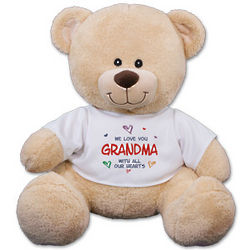 Personalized All Our Hearts Teddy Bear