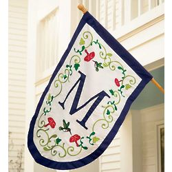 Fade and Weather-Resistant Hummingbird Monogrammed Garden Flag