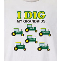 Personalized I Dig My Kids T-Shirt
