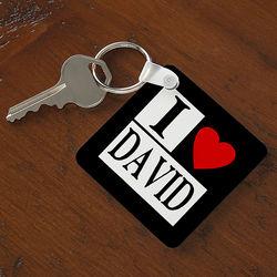 Personalized Lovin' It Keychain