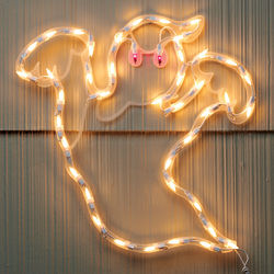 Lighted Ghost Wall Decor