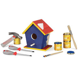 Birdhouse Construction and Painting Kit