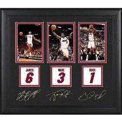 Miami Heat LeBron James, Dwyane Wade and Chris Bosh Art Print