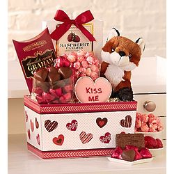 Foxy Plush and Sweets Valentine's Day Gift Basket